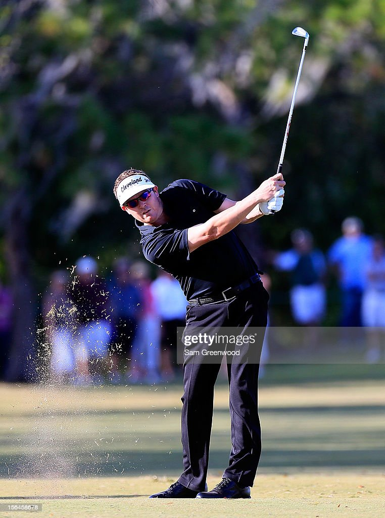 Charlie Beljan plays a shot during the final round of the Children's Miracle Network Hospitals Classic at the Disney Magnolia course on November 11, 2012 in Lake Buena Vista, Florida.