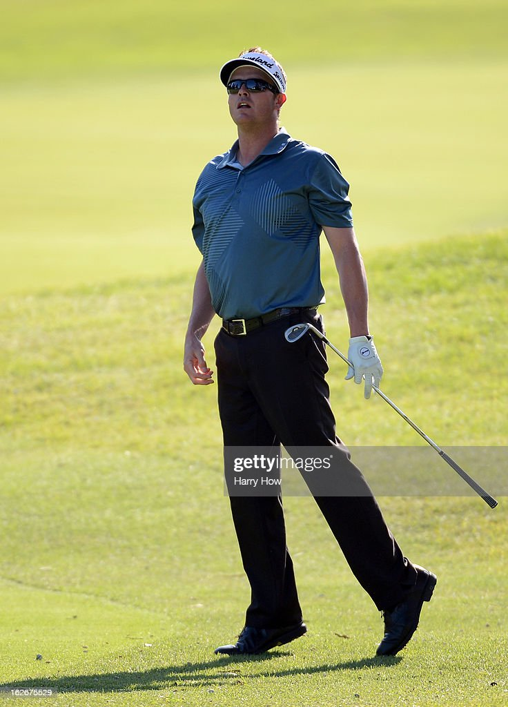 <a gi-track='captionPersonalityLinkClicked' href=/galleries/search?phrase=Charlie+Beljan&family=editorial&specificpeople=5926093 ng-click='$event.stopPropagation()'>Charlie Beljan</a> reacts to his chip on the 16th hole during the final round of the Northern Trust Open at the Riviera Country Club on February 17, 2013 in Pacific Palisades, California.