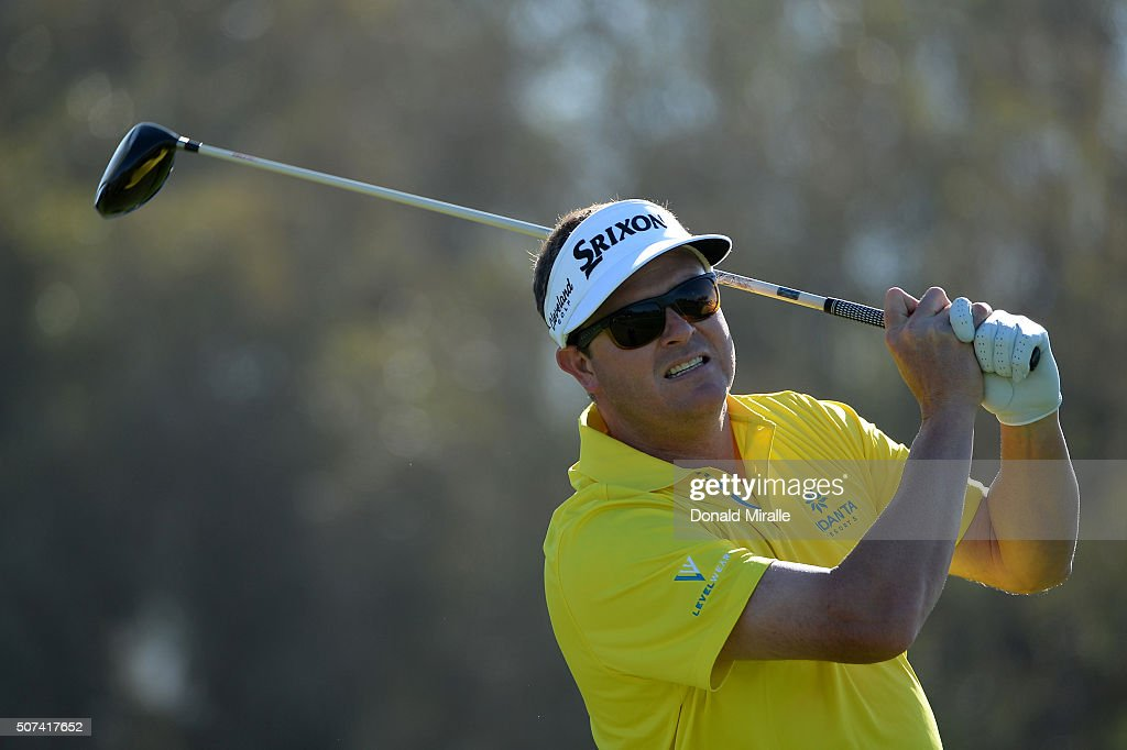 Charlie Beljan tees off on the 12th hole during Round 2 of the Farmers Insurance Open at Torrey Pines South on January 29, 2016 in San Diego, California.