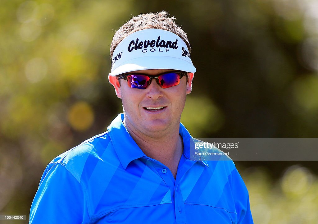 Charlie Beljan waits to play a shot during the third round of the Children's Miracle Network Hospitals Classic at the Disney Magnolia course on November 10, 2012 in Lake Buena Vista, Florida.