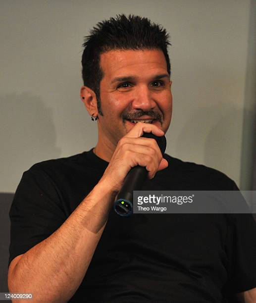 Charlie Benante of Anthrax visits the Apple Store Soho on September 7 2011 in New York City