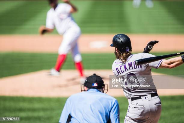 Charlie Blackmon of the Colorado Rockies bats during the game against the Washington Nationals at Nationals Park on July 30 2017 in Washington DC