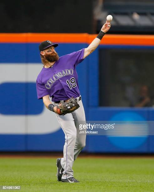 Charlie Blackmon of the Colorado Rockies in action against the New York Mets at Citi Field on July 15 2017 in the Flushing neighborhood of the Queens...