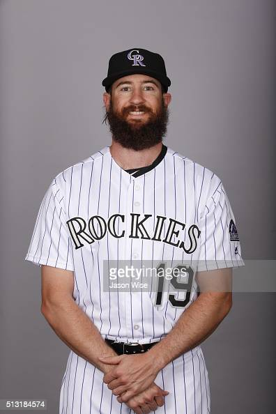 Charlie Blackmon of the Colorado Rockies poses during Photo Day on Monday February 29 2016 at Salt River Fields at Talking Stick in Scottsdale Arizona