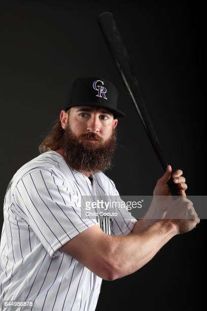 Charlie Blackmon of the Colorado Rockies poses for a portrait during photo day at Salt River Fields at Talking Stick on February 23 2017 in...