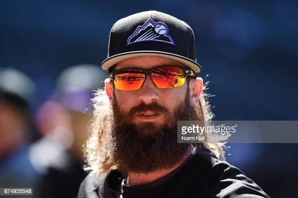 Charlie Blackmon of the Colorado Rockies prepares for a game against the Arizona Diamondbacks at Chase Field on April 29 2017 in Phoenix Arizona