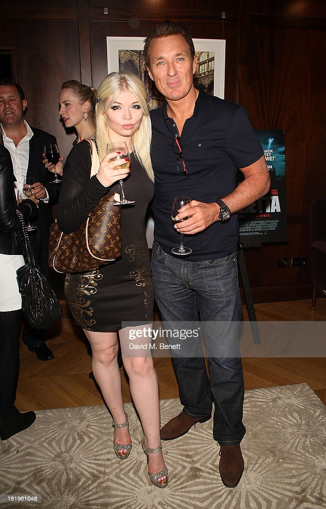 Charlie Bond and <a gi-track='captionPersonalityLinkClicked' href=/galleries/search?phrase=Martin+Kemp&family=editorial&specificpeople=213385 ng-click='$event.stopPropagation()'>Martin Kemp</a> attend a drinks reception celebrating the new co-production agreement between Anchor Bay Films and Richwater Films at The Groucho Club on September 26, 2013 in London, England.