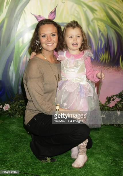 Charlie Brooks and her daughter Kiki aged 3 at the UK premiere of the Disney animated movie 'Tinker Bell' at Dartmouth House in central London Sunday...