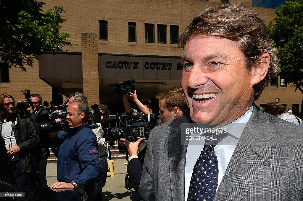 Charlie Brooks, husband of former News International chief executive Rebekah Brooks, leaves Southwark Crown Court in London on June 5, 2013 after attending a hearing into charges linked to the phone-hacking scandal. Rebekah Brooks, former chief executive of Rupert Murdoch's British newspaper wing News International, pleaded not guilty on June 5 to charges linked to the phone-hacking scandal that brought down his News of the World tabloid. Brooks, 45, denied five charges including conspiracy to hack phones, conspiracy to commit misconduct in a public office and conspiracy to pervert the course of justice. She appeared in a packed courtroom in London alongside several other former News International staff and her husband Charlie Brooks, who are also accused of conspiring to pervert the course of justice by hiding evidence relating to the hacking scandal.