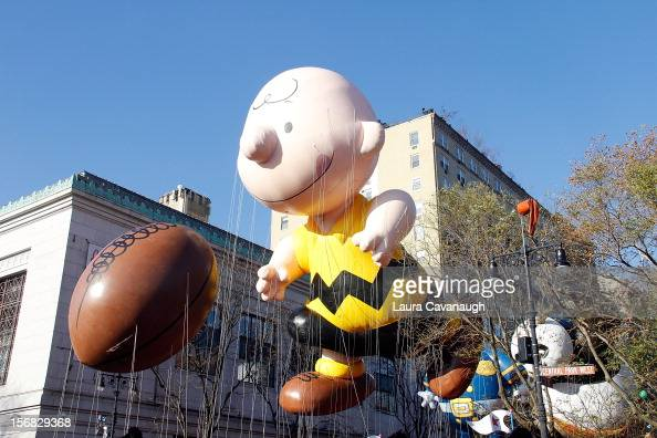 Charlie Brown balloon floats at the 86th Annual Macy's Thanksgiving Day Parade on November 22 2012 in New York City