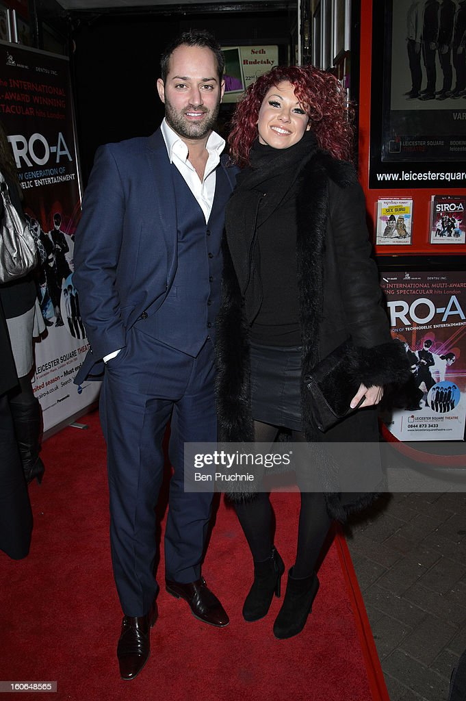 Charlie Bruce attends the press night for Siro-A show, described as Japan's version of the Blue Man Group at Leicester Square Theatre on February 4, 2013 in London, England.