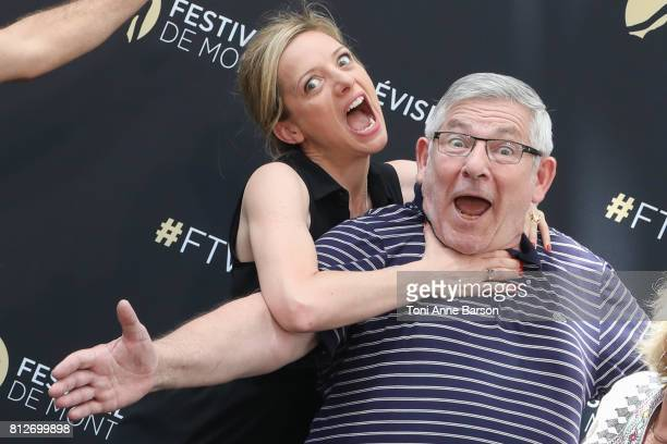 Charlie Bruneau and Yves Pignot attend photocall for 'En Famille' on June 17 2017 at the Grimaldi Forum in MonteCarlo Monaco