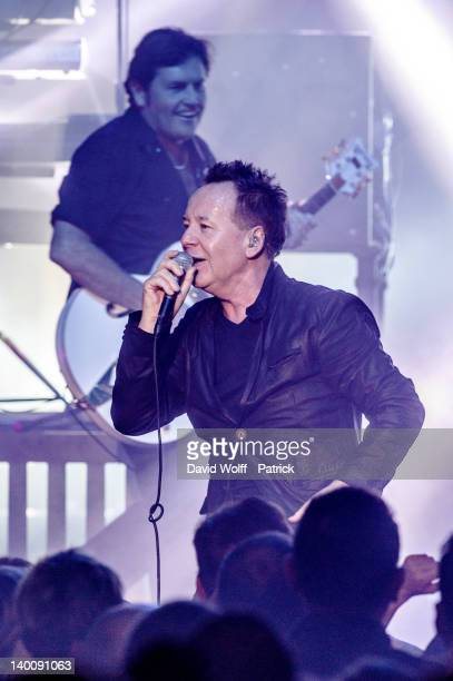 Charlie Burchill and Jim Kerr from Simple Minds perform at Casino de Paris on February 27 2012 in Paris France