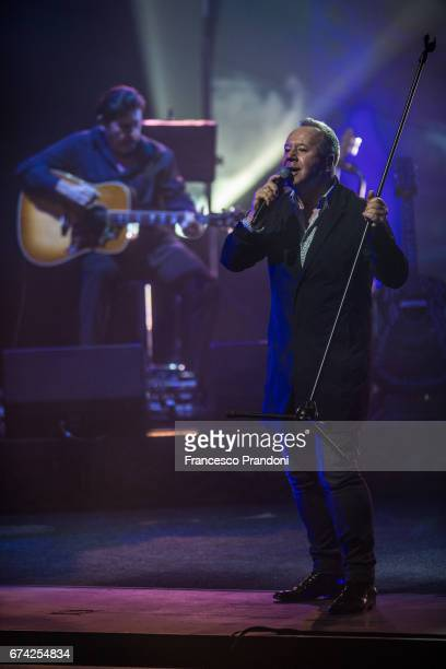 Charlie Burchill and Jim Kerr of Simple Minds perform at Teatro degli Arcimboldi on April 27 2017 in Milan Italy