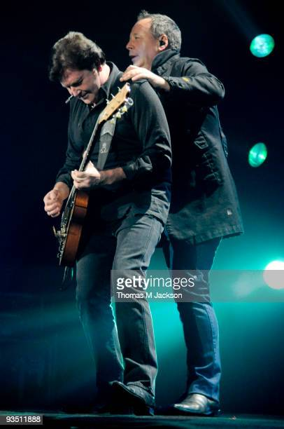 Charlie Burchill and Jim Kerr of Simple Minds perform on stage on November 30 2009 in Newcastle upon Tyne England