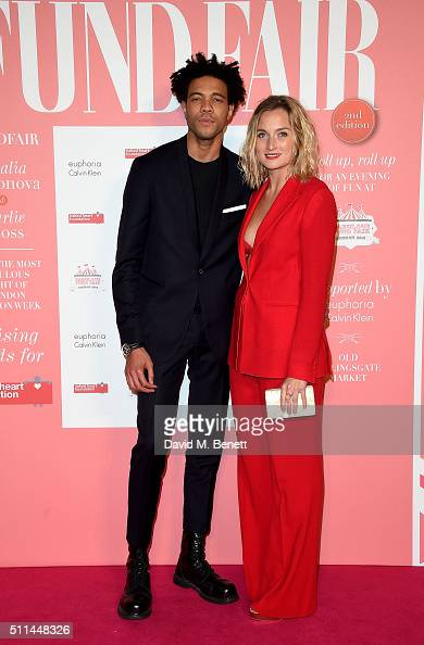 Charlie CaselyHayford and Sophie Ashby at The Naked Heart Foundation's Fabulous Fund Fair in London at Old Billingsgate Market on February 20 2016 in...