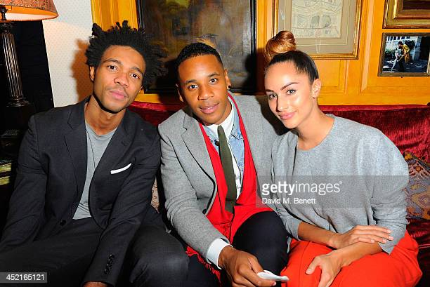 Charlie Casley Hayford Reggie Yates and guest attend Veuve Clicquot Style Party at Annabel's on November 26 2013 in London England