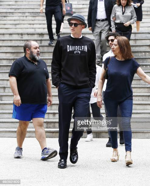 Charlie Centa attends the funeral chapel for the fashion designer David Delfin at Dress Museum on June 4 2017 in Madrid Spain