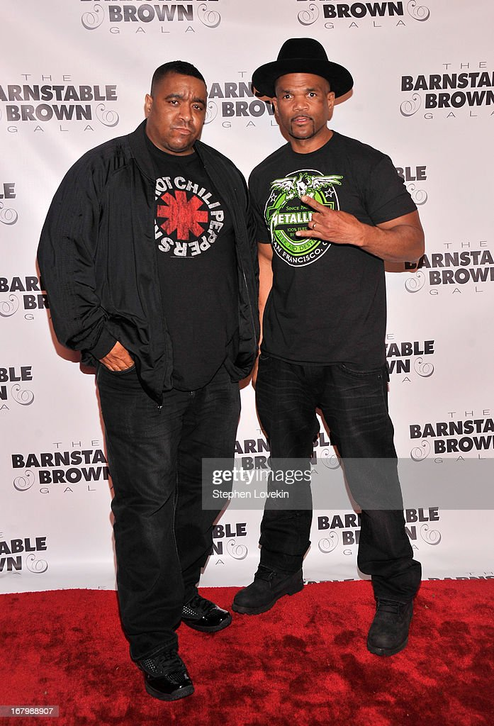 DJ Charlie Chan and Darryl 'D.M.C.' McDaniels attend the 2013 Barnstable-Brown Derby gala at Barnstable-Brown House on May 3, 2013 in Louisville, Kentucky.