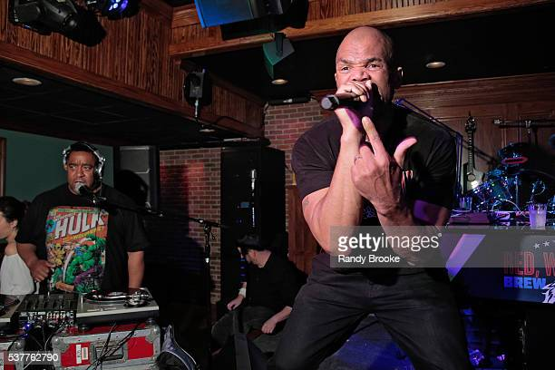 Charlie Chan performs with Daryl McDaniels during the 2016 Bryan Jacobson Foundation Charity Event at Howl at the Moon on June 2 2016 in New York City