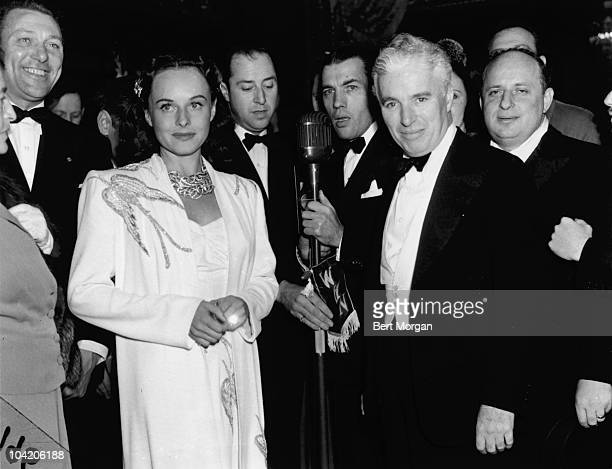 Charlie Chaplin and actress Paulette Goddard at the world premiere of Chaplin's film 'The Great Dictator' at the Capitol Theater New York 15th...