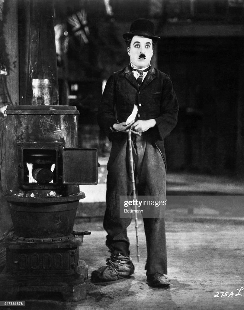 Charlie Chaplin in a scene from 'The Gold Rush'.