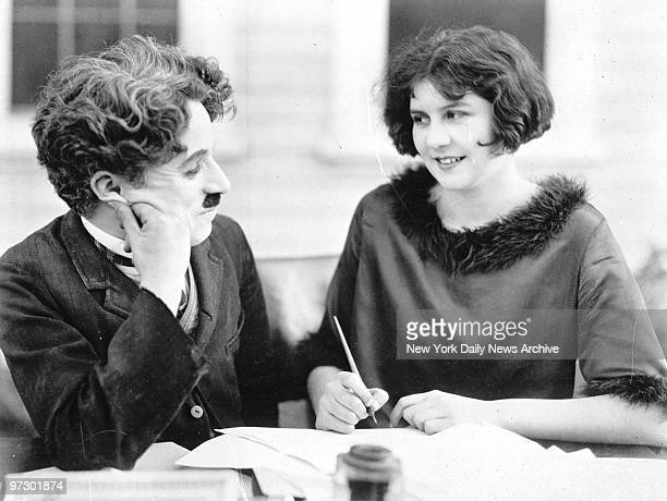 Charlie Chaplin is marrying his leading lady Lita Grey