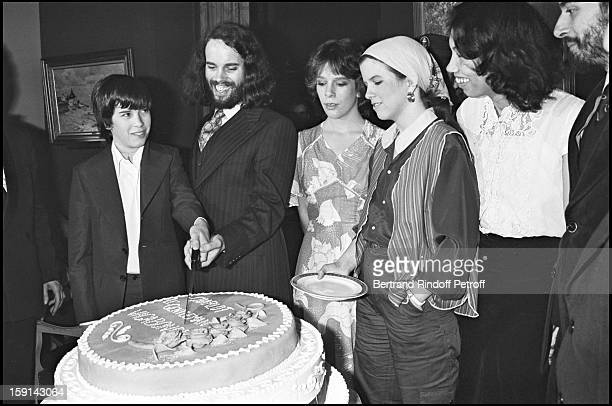 Charlie Chaplin's children Christopher Michael and their sisters attend a tribute gathering to their father in Paris In 1977