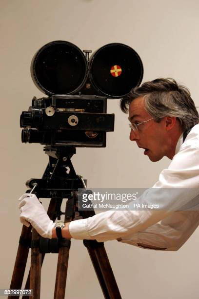 Charlie Chaplins personal movie camera a Howell model 2709 no227 goes on display at Christies auction house London