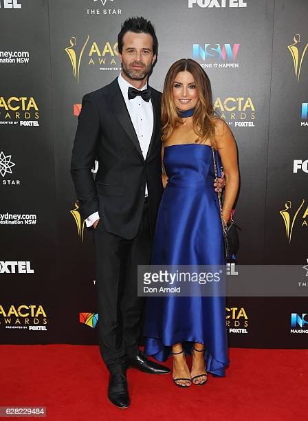 Charlie Clausen and Ada Nicodemou arrives ahead of the 6th AACTA Awards at The Star on December 7 2016 in Sydney Australia