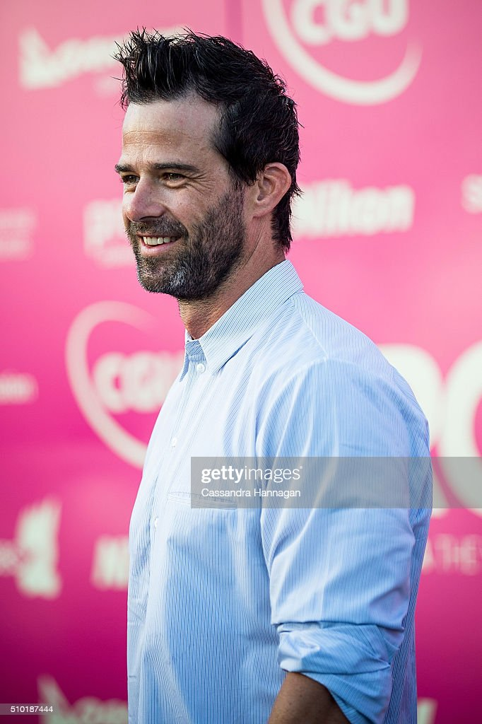 Charlie Clausen arrives at Tropfest at Centennial Park on February 14, 2016 in Sydney, Australia.