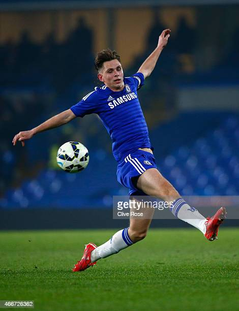 Charlie Colkett of Chelsea cin actionl during the FA Youth Cup Semi Final second leg match between Chelsea and Tottenham Hotspur at Stamford Bridge...
