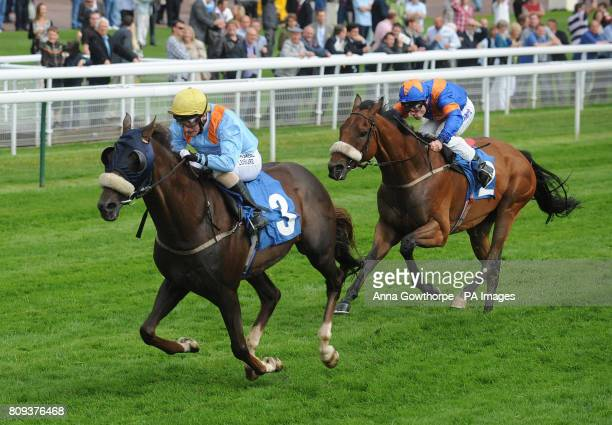 Charlie Cool ridden by PJ McDonald beats Extraterrestrial ridden by Frederik Tylicki to win the George and Pauline Blades Golden Wedding Stakes...