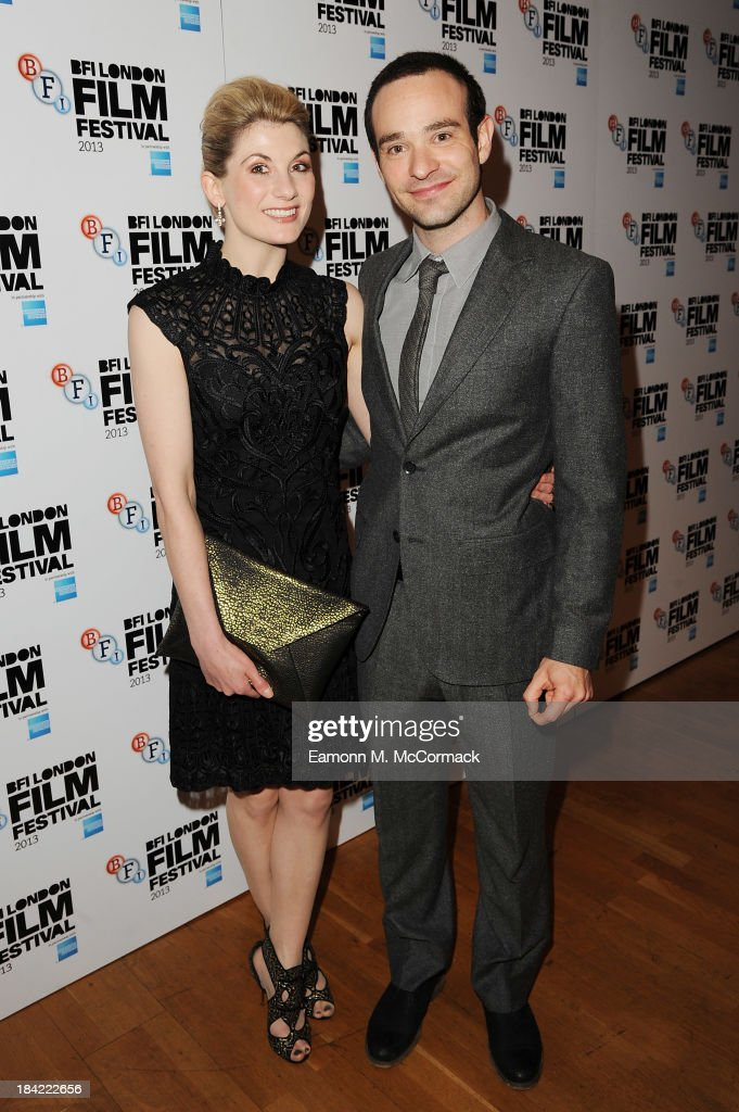 Charlie Cox and Jodie Whittaker attend a screening of 'Hello Carter' during the 57th BFI London Film Festival at Odeon West End on October 12, 2013 in London, England.