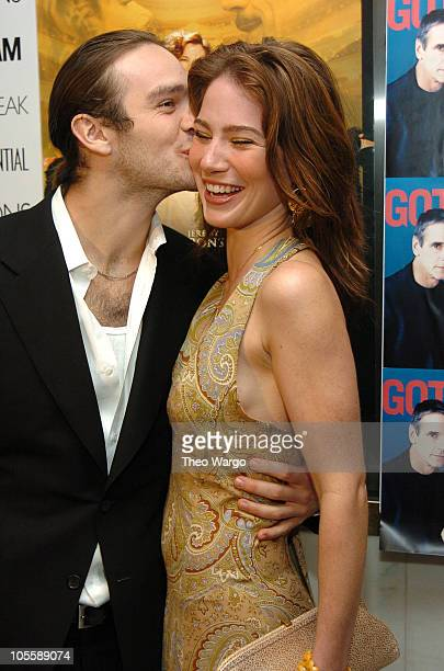 Charlie Cox and Lynn Collins during 'Being Julia' New York Premiere Arrivals at The Paris Theatre in New York City New York United States