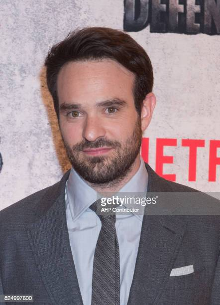 Charlie Cox arrives for the Netflix premiere of Marvel's 'The Defenders' on July 31 2017 in New York / AFP PHOTO