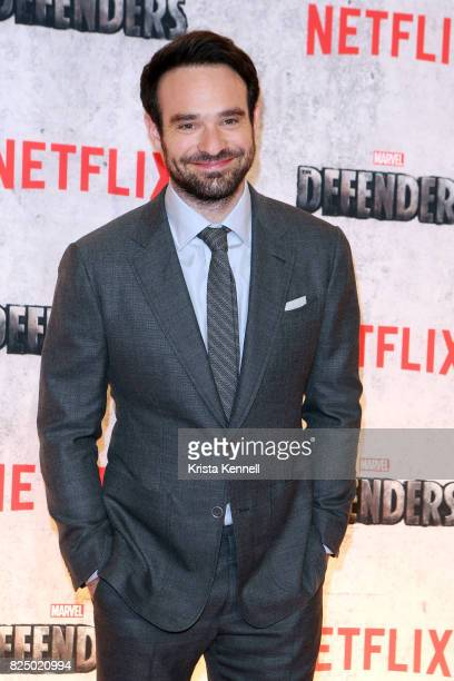 Charlie Cox arrives to the 'Marvel's The Defenders' New York Premiere at Tribeca Performing Arts Center on July 31 2017 in New York City