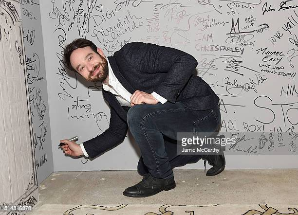 Charlie Cox of Netflix Original Series 'Marvel's Daredevil' attends the AOL Build Speakers Series at AOL Studios In New York on March 11 2016 in New...