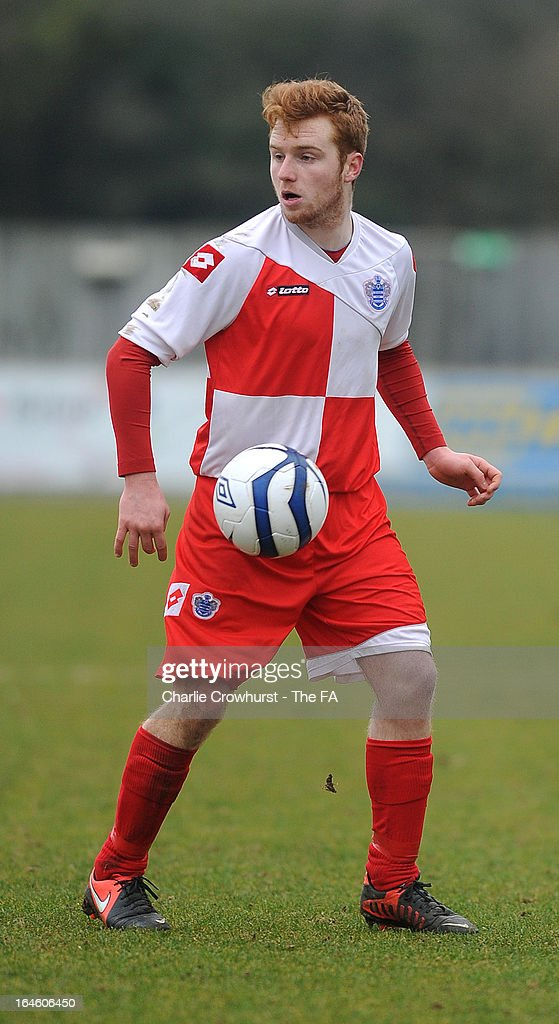 Charlie Crane of Barnes Albion attacks during the FA Sunday Cup Semi Final match between Barnes Albion and Upshire at Wheatsheaf Park on March 24, 2013 in Staines, England,