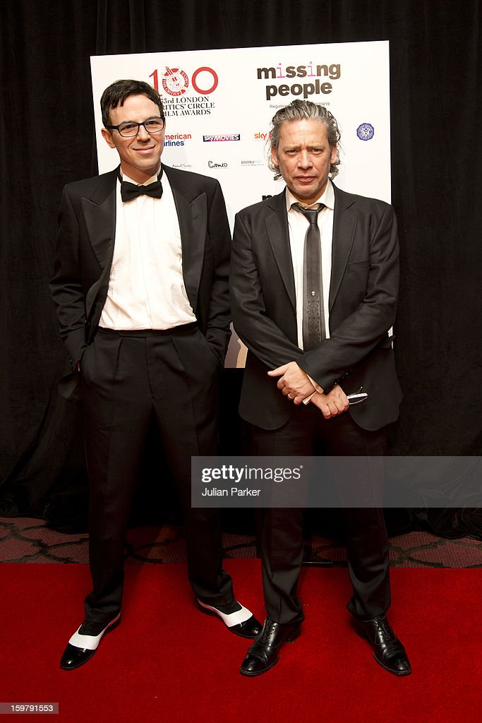 Charlie Creed-Miles ( L ) and Dexter Fletcher ( R ) attend the London Critics' Circle Film Awards, at The Mayfair Hotel on January 20, 2013 in London, England.