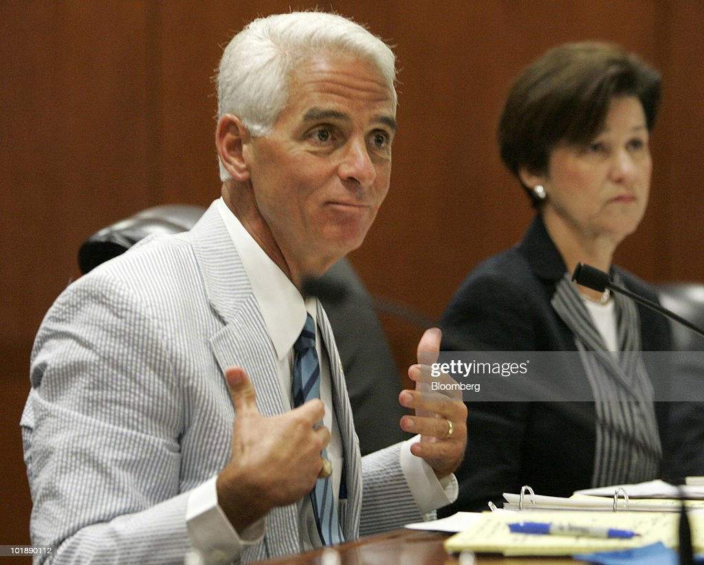 Charlie Crist, Governor Of Florida, Speaks During A Meeting With Members Of  His Cabinet