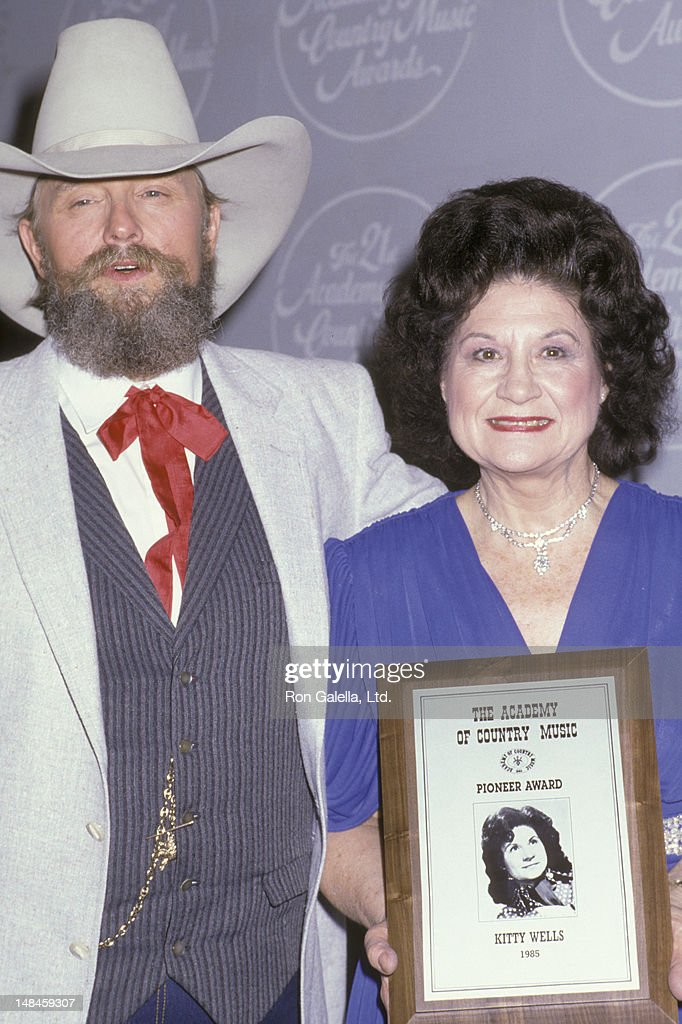 Charlie Daniels and Kitty Wells attend 21st Annual Academy of Country Music Awards on April 14, 1986 at Knott's Berry Fam in Buena Park, California.