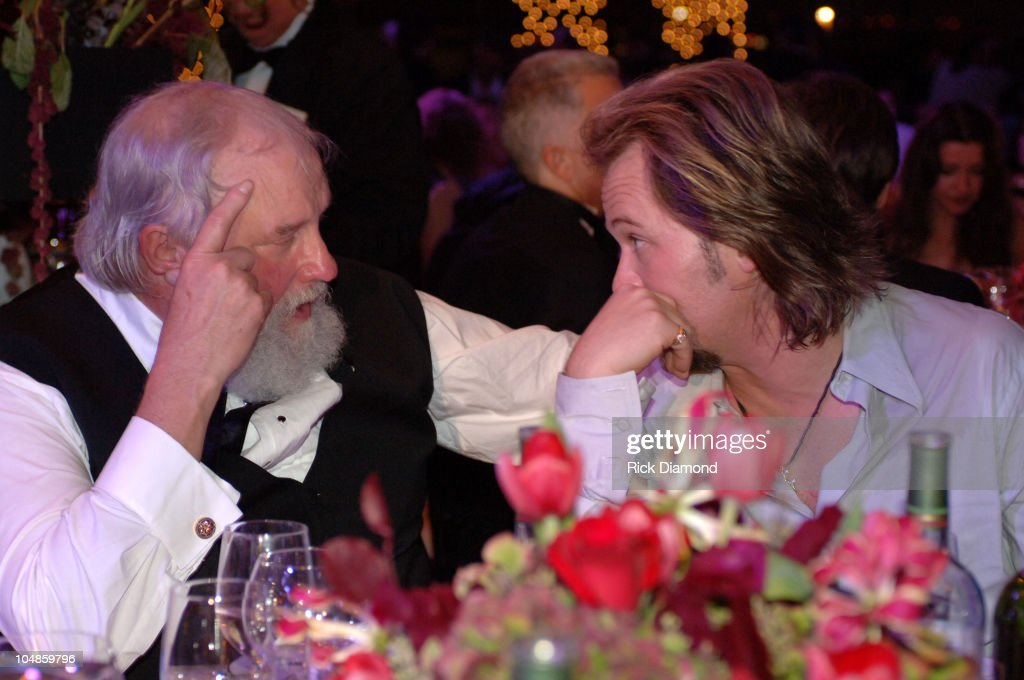 Charlie Daniels and Travis Tritt during 53rd Annual BMI Country Music Awards at BMI Nashville Offices in Nashville Tennessee United States
