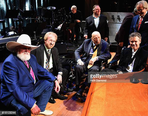 Charlie Daniels Duane Allen Fred Foster and Randy Travis attend The 2016 Medallion Ceremony at the Country Music Hall of Fame and Museum on October...