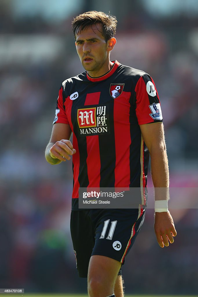 Charlie Daniels of AFC Bournemouth during the Barclays Premier League match between Bournemouth and Aston Villa at the Vitality Stadium on August 8...