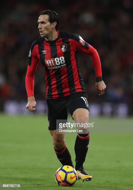 Charlie Daniels of AFC Bournemouth in action during the Premier League match between AFC Bournemouth and Chelsea at Vitality Stadium on October 28...
