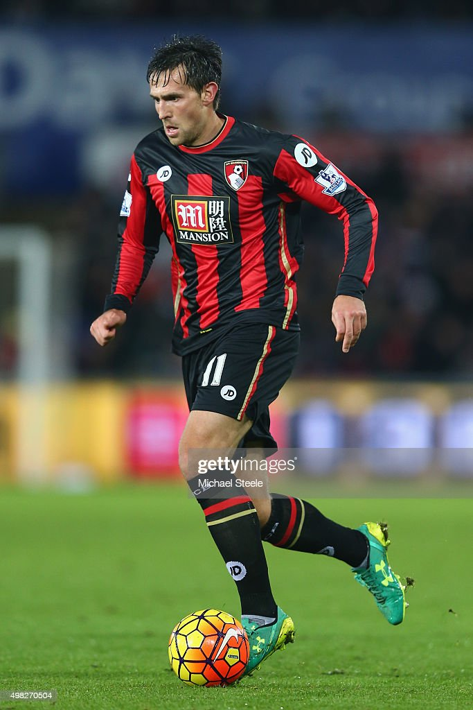 Charlie Daniels of Bournemouth during the Barclays Premier League match between Swansea City and Bournemouth at the Liberty Stadium on November 21...