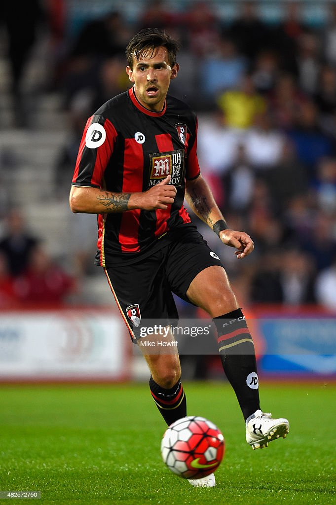 Charlie Daniels of Bournemouth in action during a Pre Season Friendly between AFC Bournemouth and Cardiff City at Vitality Stadium on July 31 2015 in...