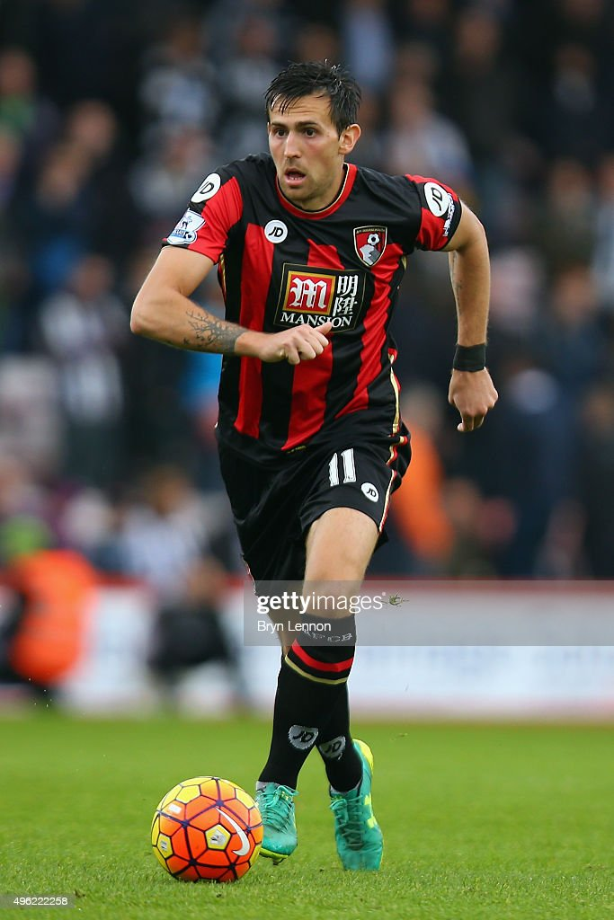 Charlie Daniels of Bournemouth in action during the Barclays Premier League match between AFC Bournemouth and Newcastle United at Vitality Stadium on...