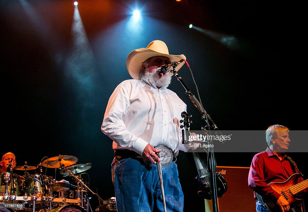 Charlie Daniels of the Charlie Daniels Band performs at Freedom Hill Amphitheater on June 18 2015 in Sterling Heights Michigan
